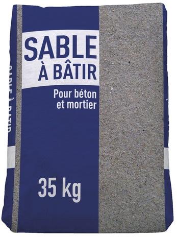 sable b tir pour les travaux de ma onnerie granulo 0 4 mm en sac de 35 kg brico d p t. Black Bedroom Furniture Sets. Home Design Ideas