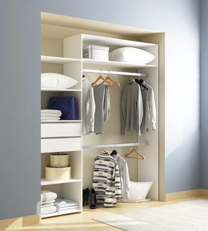 kit d 39 am nagement de placard carolina blanc 2 tiroirs brico d p t. Black Bedroom Furniture Sets. Home Design Ideas