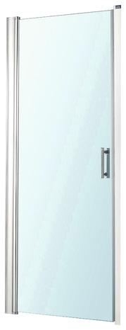 Porte pivotante lagon verre transparent h 185 cm l 80 cm for Porte pivotant douche brico depot
