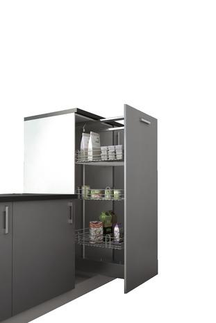 Rangement coulissant pour 1 2 colonne haut 130 cm for Colonne cuisine tiroir coulissant