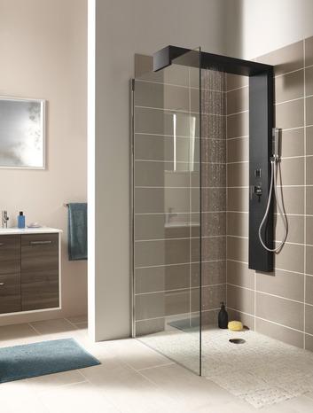 colonne de douche adaptable sur paroi walkin h 150 cm brico d p t. Black Bedroom Furniture Sets. Home Design Ideas