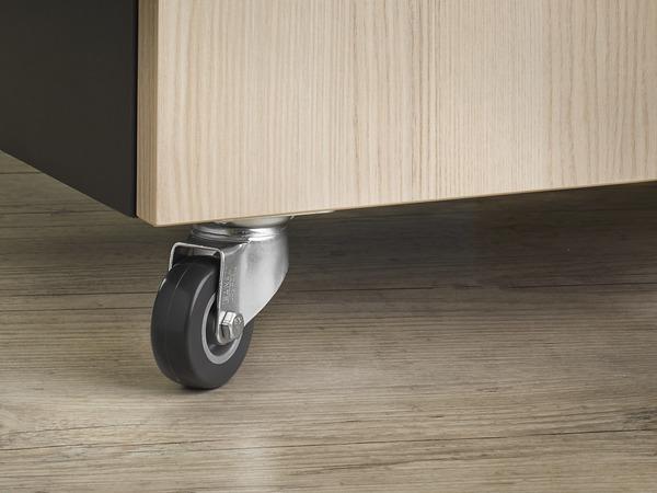roulette pivotante 35 kg sans frein brico d p t. Black Bedroom Furniture Sets. Home Design Ideas
