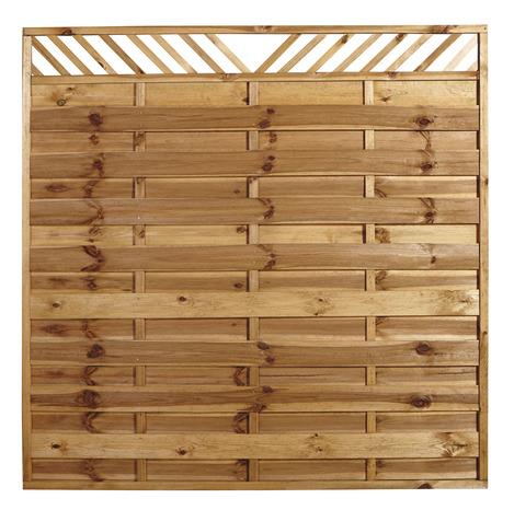en pin 180x180 cm teinté marron - brico dépôt