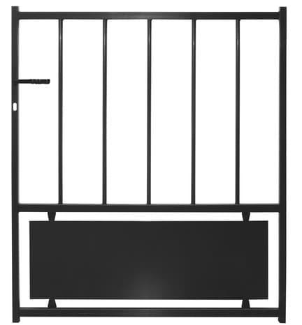 portail fer battant bristol noir l 3 06 x h 1 20 m brico d p t. Black Bedroom Furniture Sets. Home Design Ideas