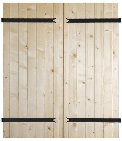 Volet battant en bois de sapin du nord pic a h 75 cm l 60 cm ep 27 mm brico d p t for Portes placard persiennes brico depot
