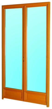 Porte fen tre en bois 2 vantaux droite l 100 x h 205 cm for Porte ouvrant droit