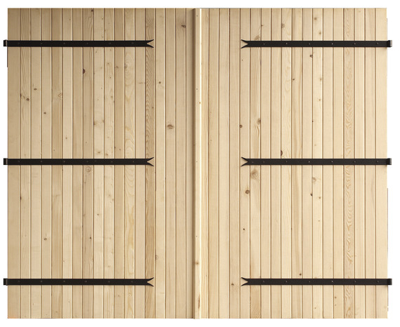 porte de garage deux vantaux en bois d 39 pic a h 2 m l 2 40 m brico d p t. Black Bedroom Furniture Sets. Home Design Ideas