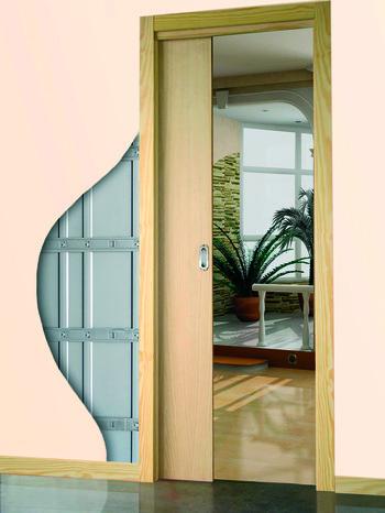 porte coulissante galandage le kit complet larg 83 cm brico d p t. Black Bedroom Furniture Sets. Home Design Ideas