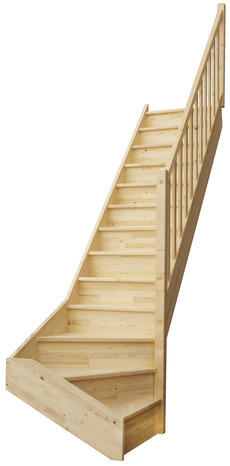 escalier 1 4 tournant en sapin brico d p t. Black Bedroom Furniture Sets. Home Design Ideas