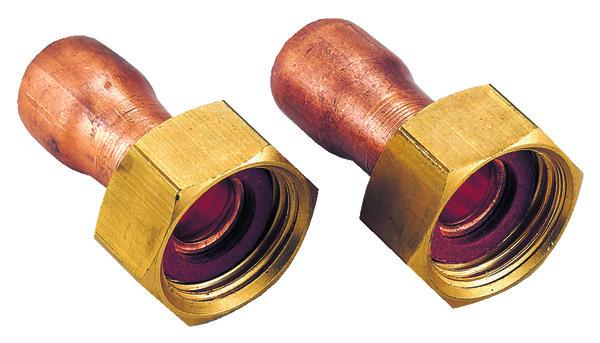 2 raccords en laiton pour tube cuivre 14 mm avec embout. Black Bedroom Furniture Sets. Home Design Ideas