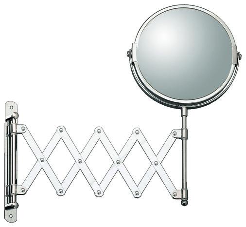 Miroir extensible grossissant en m tal rond d 39 un diam tre for Miroir extensible