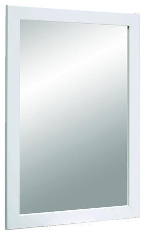 miroir avec cadre en pin blanc h 68 cm l 48 cm brico d p t. Black Bedroom Furniture Sets. Home Design Ideas