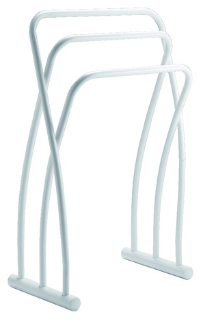 porte serviette poser en acier chrom 3 barres de s chage h 79 cm l 50 cm p 28 cm brico. Black Bedroom Furniture Sets. Home Design Ideas