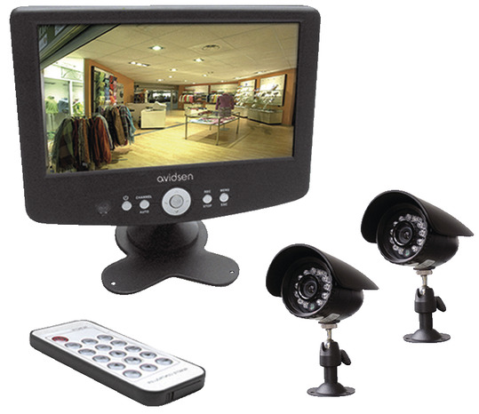 kit de vid o surveillance filaire int rieur ext rieur brico d p t. Black Bedroom Furniture Sets. Home Design Ideas