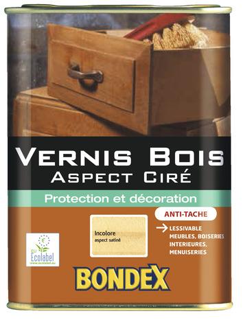 Vernis pour bois de 1 l aspect cir bondex brico d p t - Vernis pour parquet bois ...