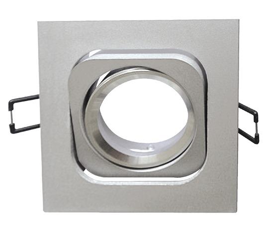 spot orientable carr en fonte d 39 aluminium 1 led 6 w brico d p t. Black Bedroom Furniture Sets. Home Design Ideas