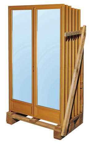Porte Fenêtre Bois 2 Vantaux Larg 100 X Haut 205 Cm Uw15 Brico