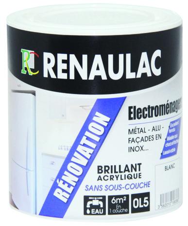 Peinture Acrylique De Rénovation Des équipements électroménagers En Blanc Brillant 0 5 L Renaulac