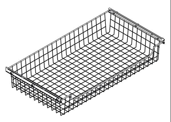 panier filaire l 50 x p 51 6 cm brico d p t. Black Bedroom Furniture Sets. Home Design Ideas