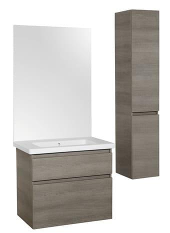 meuble sous vasque attitude bois h 65 cm l 121 cm p 47 cm brico d p t. Black Bedroom Furniture Sets. Home Design Ideas