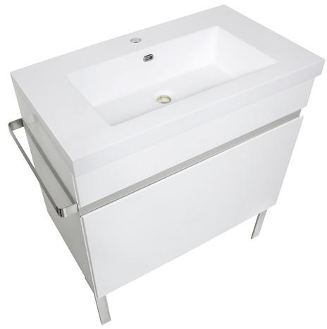meuble new york gris 80 cm brico d p t. Black Bedroom Furniture Sets. Home Design Ideas