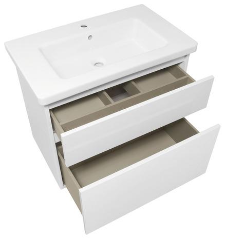 meuble sous vasque attitude blanc brillant l 76 x h 65 x p 47 cm brico d p t. Black Bedroom Furniture Sets. Home Design Ideas