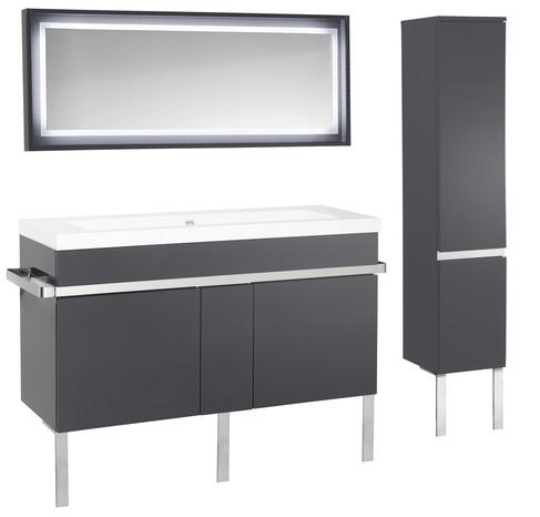 miroir new york gris l 120 x h 50 x p 7 cm brico d p t