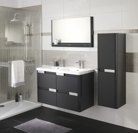meuble de salle de bain brico depot pas cher. Black Bedroom Furniture Sets. Home Design Ideas