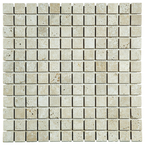 mosa que pierre naturelle travertin beige 30x30 cm carreau. Black Bedroom Furniture Sets. Home Design Ideas