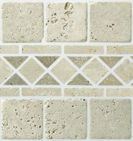 pierre naturelle TRAVERTIN beige 30x30 cm carreau 10x10 cm - Brico ...
