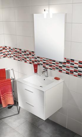 de salle de bain Lally blanc brillant L. 60 cm H. 50 cm P. 46 cm -