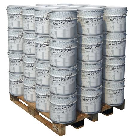 peinture monocouche satin pour les murs et plafonds 10 l brico d p t. Black Bedroom Furniture Sets. Home Design Ideas