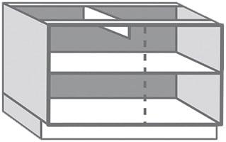 caisson bas blanc en m lamin l 120 x l 85 x p 56 cm brico d p t. Black Bedroom Furniture Sets. Home Design Ideas