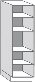 CAISSON COLONNE BLANC EN MÉLAMINÉ - L. 60 x H. 215,4 x P. 56 cm - Brico