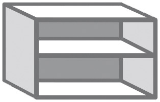 hotte blanc ep. 16 mm l. 60 cm h. 42 cm p. 30 cm - brico dépôt