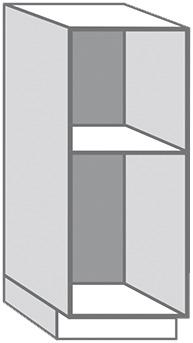 CAISSON DEMI-COLONNE BLANC EN MÉLAMINÉ - L. 60 x H. 145 x P. 56 cm ...