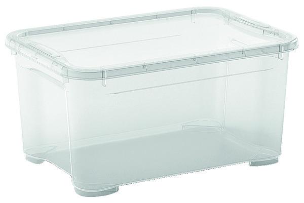 Bac de rangement transparent 5 l 26x19x14 cm brico d p t - Bac plastique brico depot ...