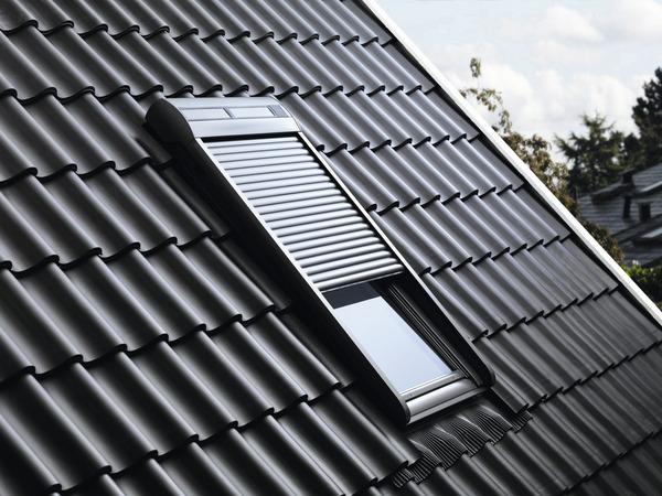volet roulant avec moteur solaire 118x114 cm brico d p t. Black Bedroom Furniture Sets. Home Design Ideas
