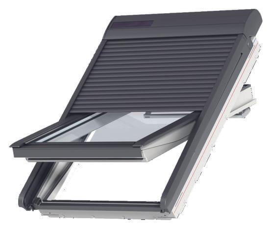 Volet roulant avec moteur solaire 78x98 cm velux brico d p t - Notice telecommande velux solaire ...