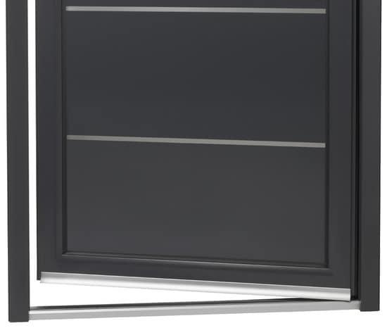 Porte d entr e aluminium droite brico d p t for Tringle porte d entree