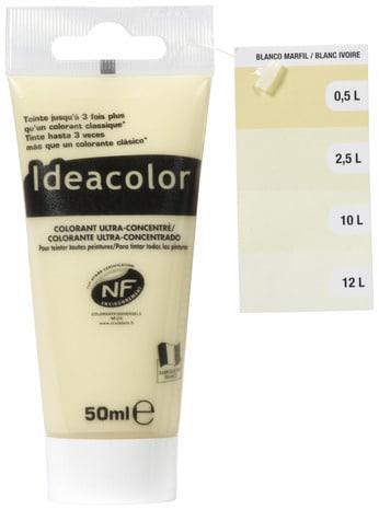 Colorant Concentré Blanc Ivoire Pour Colorer Tous Types De Peintures 50 Ml Ideacolor