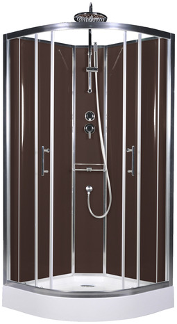 cabine de douche chocolat profil s en aluminium chrom h 225 cm l 90 cm p 90 cm brico d p t. Black Bedroom Furniture Sets. Home Design Ideas