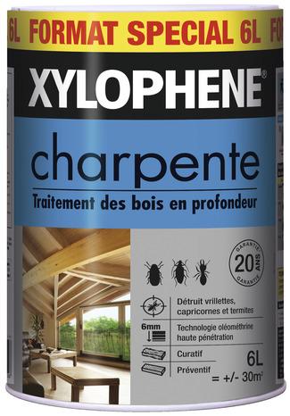 Traitement pour bois sp cial poutres et charpentes 6 l xylophene brico d p t - Xylophene traitement poutres et charpentes ...
