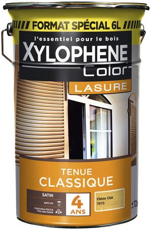 lasure ch ne clair pour tous les ouvrages en bois garantie 4 ans 6 l brico d p t. Black Bedroom Furniture Sets. Home Design Ideas