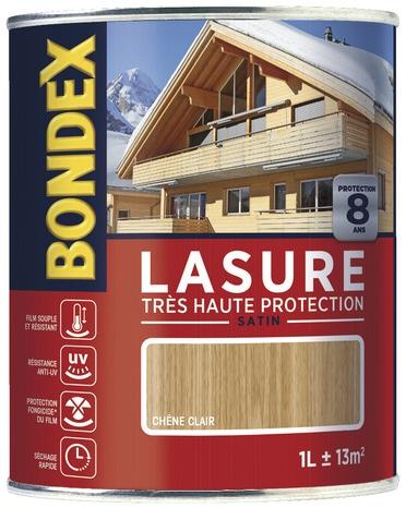 Lasure ch ne 8 ans clair satin pour les ouvrages en bois 1 l brico d p t - Lasure brico depot ...