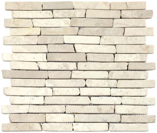 pierre naturelle beige sur filet la plaque - brico dépôt