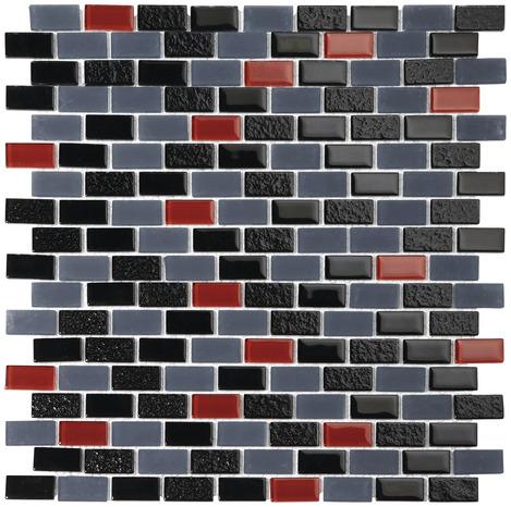 mosaique mix noir gris rouge brico d p t. Black Bedroom Furniture Sets. Home Design Ideas