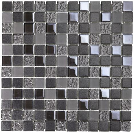 mosa que de verre mix gris iris d poli brico d p t. Black Bedroom Furniture Sets. Home Design Ideas