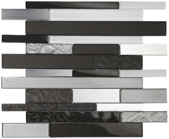 mosa que de verre mix alu noir blanc brico d p t. Black Bedroom Furniture Sets. Home Design Ideas