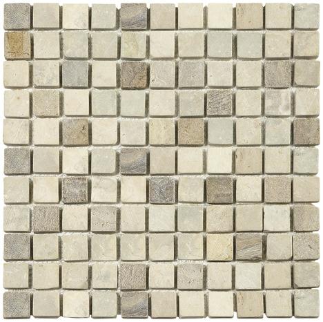 mosa que pierre naturelle cr me rose sur filet brico d p t. Black Bedroom Furniture Sets. Home Design Ideas